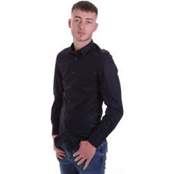 Textil Muži Košile s dlouhymi rukávy Antony Morato MMSL00628 FA400079 Modrý