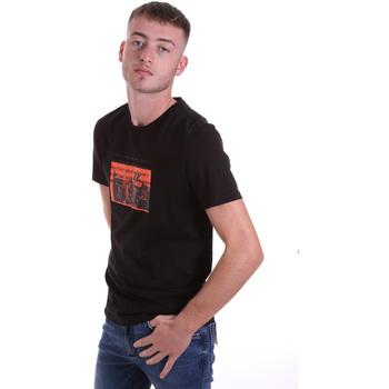 Textil Muži Trička s krátkým rukávem Antony Morato MMKS01880 FA100144 Černá