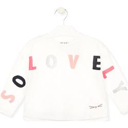 Textil Dívčí Trička s dlouhými rukávy Losan 026-1012AL Bílý