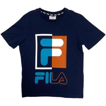 Textil Děti Trička s krátkým rukávem Fila 688149 Modrý