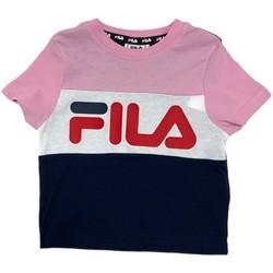 Textil Děti Trička s krátkým rukávem Fila 688023 Růžový