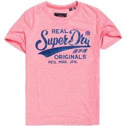 Textil Ženy Trička s krátkým rukávem Superdry G10135TT Růžový