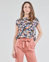 Textil Ženy Halenky / Blůzy Betty London OMISS Tmavě modrá / Růžová
