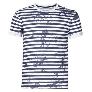 Textil Muži Trička s krátkým rukávem Yurban OLORD Tmavě modrá / Bílá
