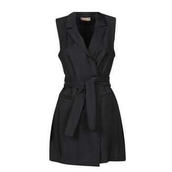 Textil Ženy Krátké šaty Moony Mood OLALA Černá