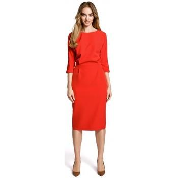 Textil Ženy Krátké šaty Moe M360 Šaty střední délky s volným vrškem - červené