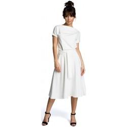 Textil Ženy Krátké šaty Be B067 Rozšířené šaty - ecru