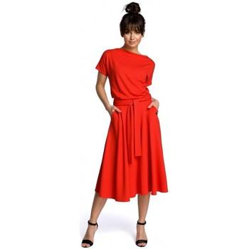 Textil Ženy Krátké šaty Be B067 Rozšířené šaty - červené