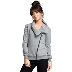 Textil Ženy Mikiny Be B071 Mikina na zip - šedá