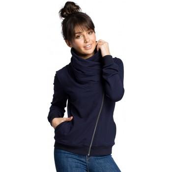 Textil Ženy Mikiny Be B071 Mikina na zip - tmavě modrá