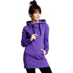 Textil Ženy Mikiny Be B072 Dlouhý svetr - fialový