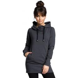Textil Ženy Mikiny Be B072 Dlouhý pulovr - grafitový