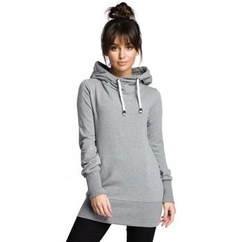Textil Ženy Mikiny Be B072 Dlouhý svetr - šedý