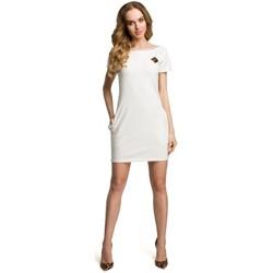 Textil Ženy Krátké šaty Moe M374 Mini šaty s odznakem - ecru