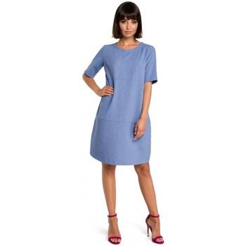 Textil Ženy Krátké šaty Be B082 Šaty Breezy shift - modré