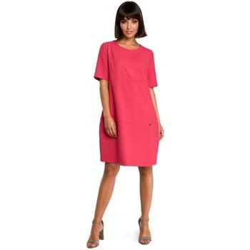 Textil Ženy Krátké šaty Be B082 Šaty Breezy shift - růžové