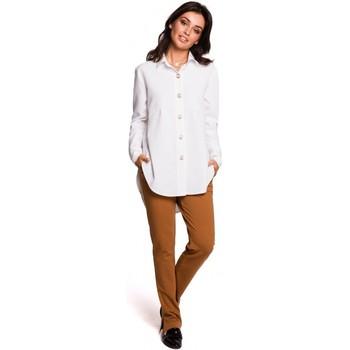 Textil Ženy Košile / Halenky Be B122 Košile s límečkem - bílá