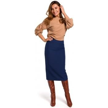 Textil Ženy Sukně Style S171 Tužková sukně s vysokým pasem - tmavě modrá