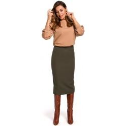 Textil Ženy Sukně Style S171 Tužková sukně s vysokým pasem - khaki barva