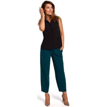 Textil Ženy Halenky / Blůzy Style S172 Košile bez rukávů - černá