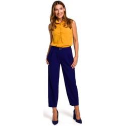 Textil Ženy Halenky / Blůzy Style S172 Košile bez rukávů - žlutá