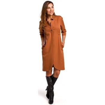 Textil Ženy Šaty Style S189 Blejzrové šaty - zrzavé
