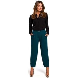 Textil Ženy Košile / Halenky Style S192 Košile s dlouhým rukávem a límečkem - bílá