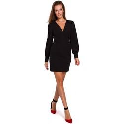 Textil Ženy Krátké šaty Makover K027 Mini šaty s puff rukávy - černé