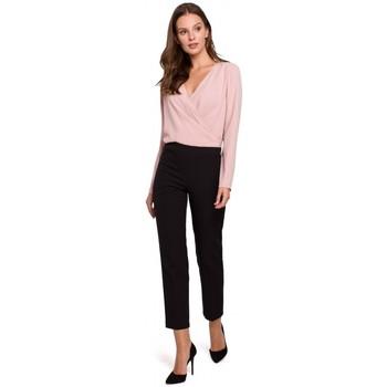 Textil Ženy Kalhoty Makover K035 Kalhoty s elastickým pasem - černé
