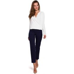 Textil Ženy Kalhoty Makover K035 Kalhoty s elastickým pasem - tmavě modré