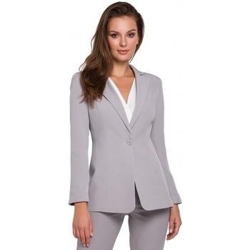 Textil Ženy Obleková saka Makover K036 Blejzr s jednou zadní částí - šedý