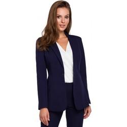 Textil Ženy Obleková saka Makover K036 Blejzr s jednou zadní částí - tmavě modrý