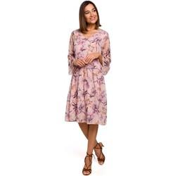 Textil Ženy Krátké šaty Style S214 Šifonové šaty se spadlým pasem - model 2
