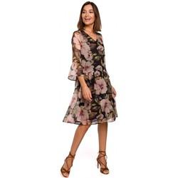 Textil Ženy Krátké šaty Style S214 Šifonové šaty se spadlým pasem - model 3