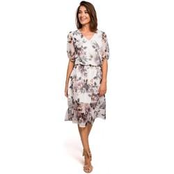 Textil Ženy Šaty Style S215 Šifonové šaty s volánovým lemem - model 1