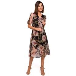 Textil Ženy Šaty Style S215 Šifonové šaty s volánovým lemem - model 3