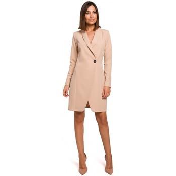 Textil Ženy Šaty Style S217 Blejzrové šaty - béžové