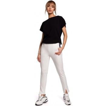 Textil Ženy Trička s krátkým rukávem Moe M493 Kalhoty s dělenými nohavicemi - ecru