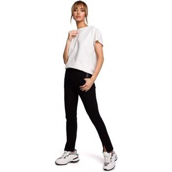 Textil Ženy Mrkváče Moe M493 Kalhoty s dělenými nohavicemi - černé