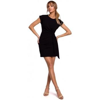 Textil Ženy Krátké šaty Moe M508 Mini šaty s uzlem - černé