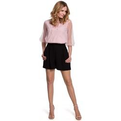 Textil Ženy Kraťasy / Bermudy Makover K049 Uvolněné šortky - černé