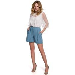 Textil Ženy Kraťasy / Bermudy Makover K049 Relaxační šortky - nebesky modré