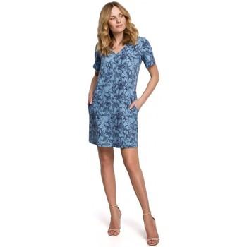 Textil Ženy Krátké šaty Makover K052 Šaty Shift s potiskem - model 1