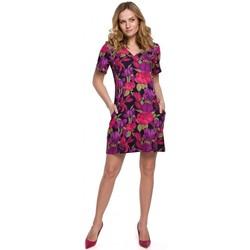 Textil Ženy Krátké šaty Makover K052 Šaty Shift s potiskem - model 2