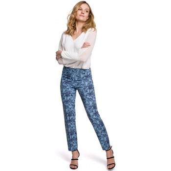 Textil Ženy Mrkváče Makover K053 Kalhoty Slim s potiskem - model 1
