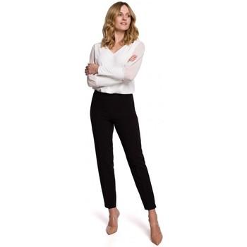 Textil Ženy Mrkváče Makover K055 Kalhoty s úzkými nohavicemi - černé