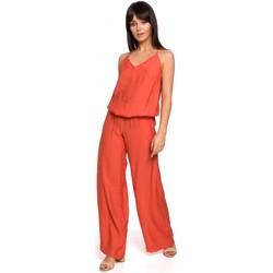 Textil Ženy Overaly / Kalhoty s laclem Be B155 Kombinéza se širokými nohavicemi - oranžová