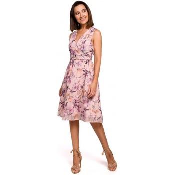 Textil Ženy Krátké šaty Style S225 Šifonové šaty s hlubokým výstřihem - model 3