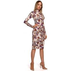 Textil Ženy Společenské šaty Moe M543 Šaty s potiskem a rolákem - model 3