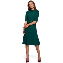 Textil Ženy Krátké šaty Style S231 Límcový dres s páskem s přezkou - zelený